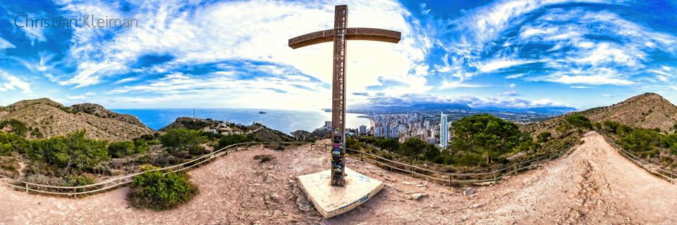 Monumento de La Cruz en Benidorm - Sierra Helada - Foto Pano 360 VR