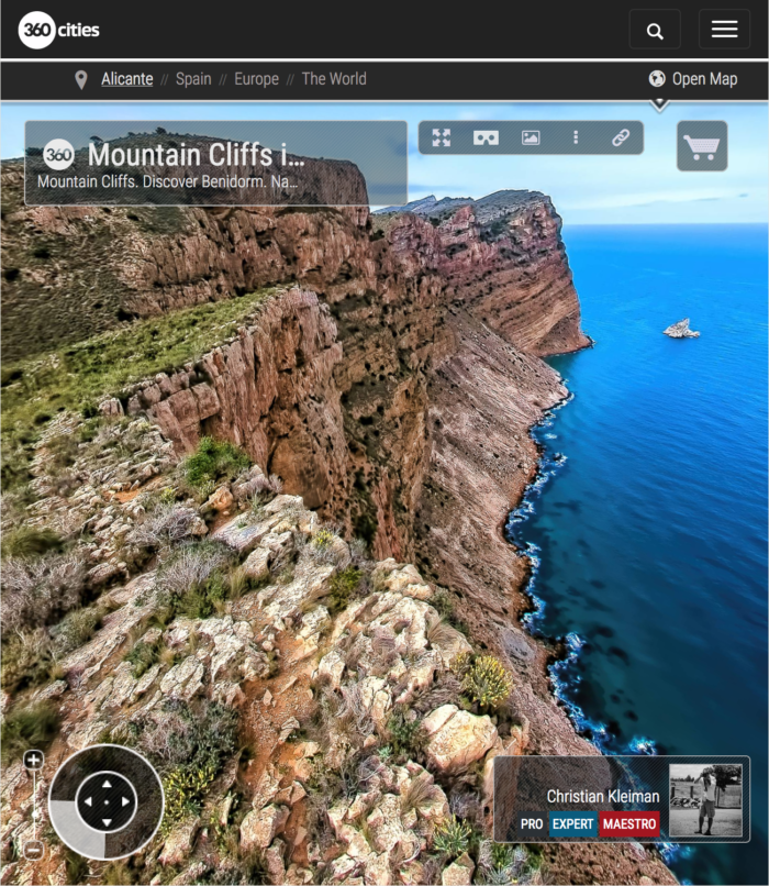 Mountain Cliffs from Benidorm - Costa Blanca, Spain - 360 VR Pano Photo