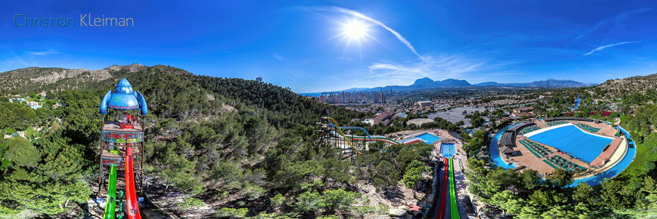 Vertigo Slide - Aqualandia Water Park in Benidorm - 360 VR Pano Photo