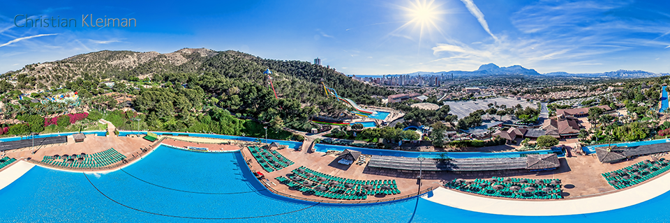 Amazon River - Aqualandia Water Park in Benidorm - 360 VR Pano Photo