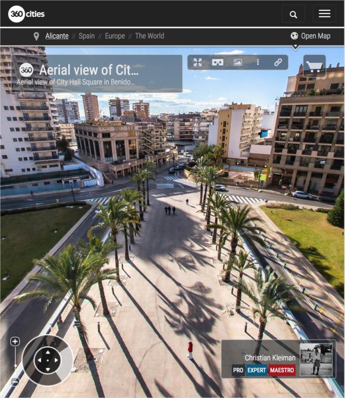 Plaza de SS. MM. los Reyes de España, Benidorm - Foto Pano 360 VR