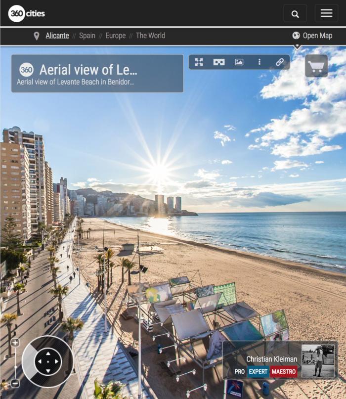 Levante Beach in Benidorm - Costa Blanca, Spain - 360 VR Pano Photo