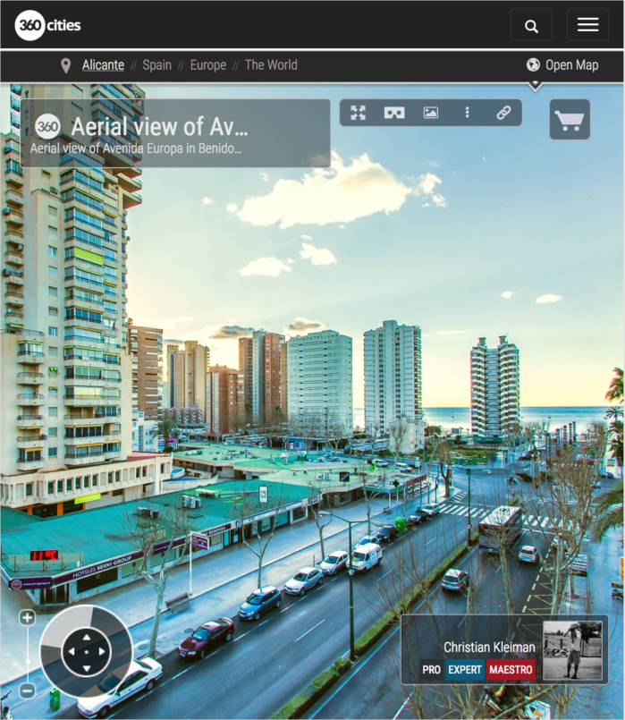 Avenida Europa de Benidorm, Costa Blanca - Foto Panorámica 360 VR