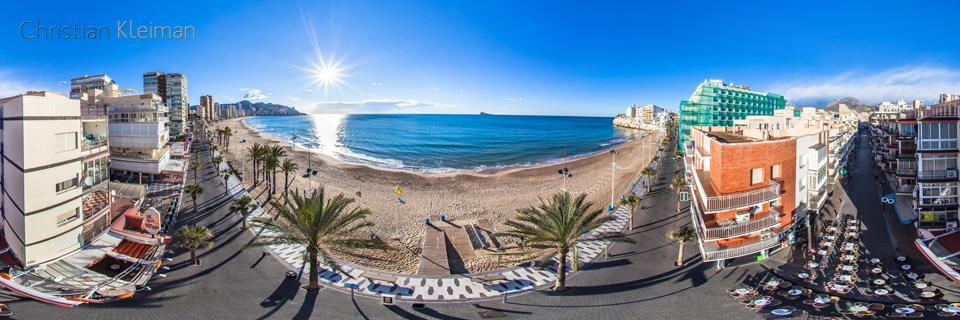 Aérea de Playa de Levante - Benidorm, Costa Blanca - Foto Pano 360 VR
