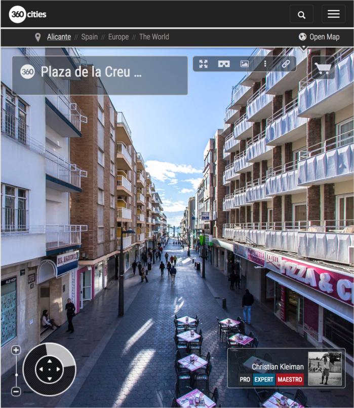 Plaza de La Creu en Benidorm, Costa Blanca - Foto Pano 360 VR