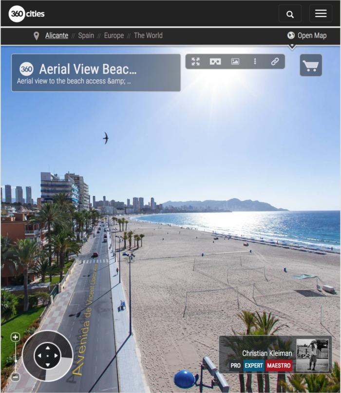 Poniente Beach in Benidorm - Costa Blanca, Spain - 360 VR Pano Photo