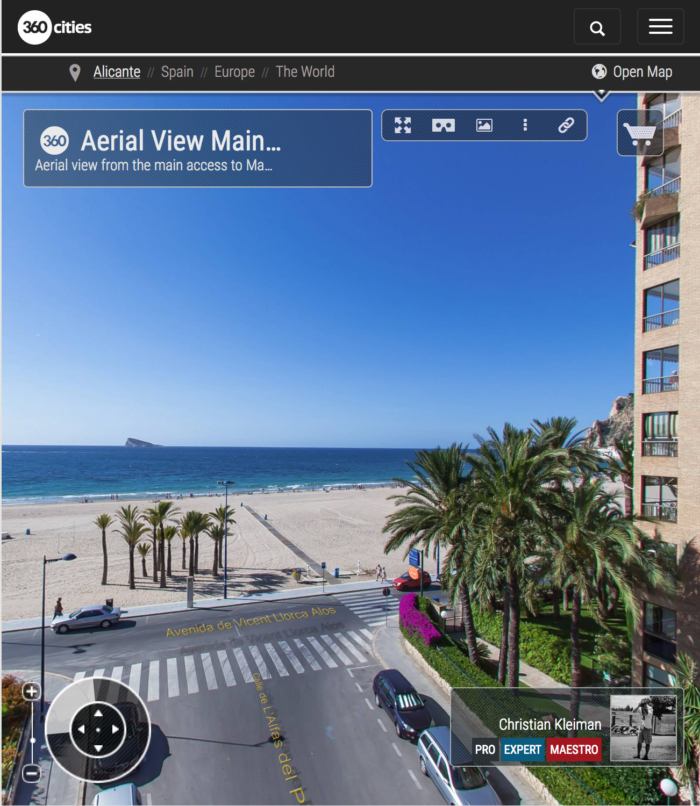 Apartments Maria Cristina Beach in Benidorm - 360 VR Pano Photo