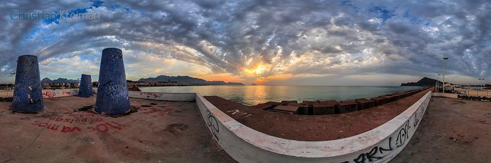 Espigón de Levante del Puerto de Altea, Costa Blanca - Foto Pano 360 VR