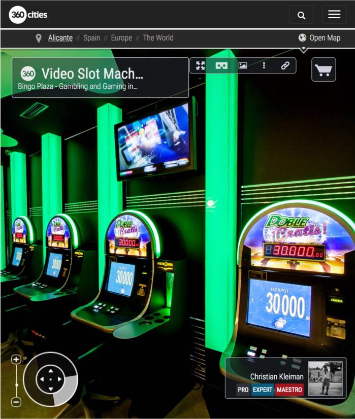 Bingo Plaza Benidorm, Gaming and Gambling - 360 VR Pano Photos