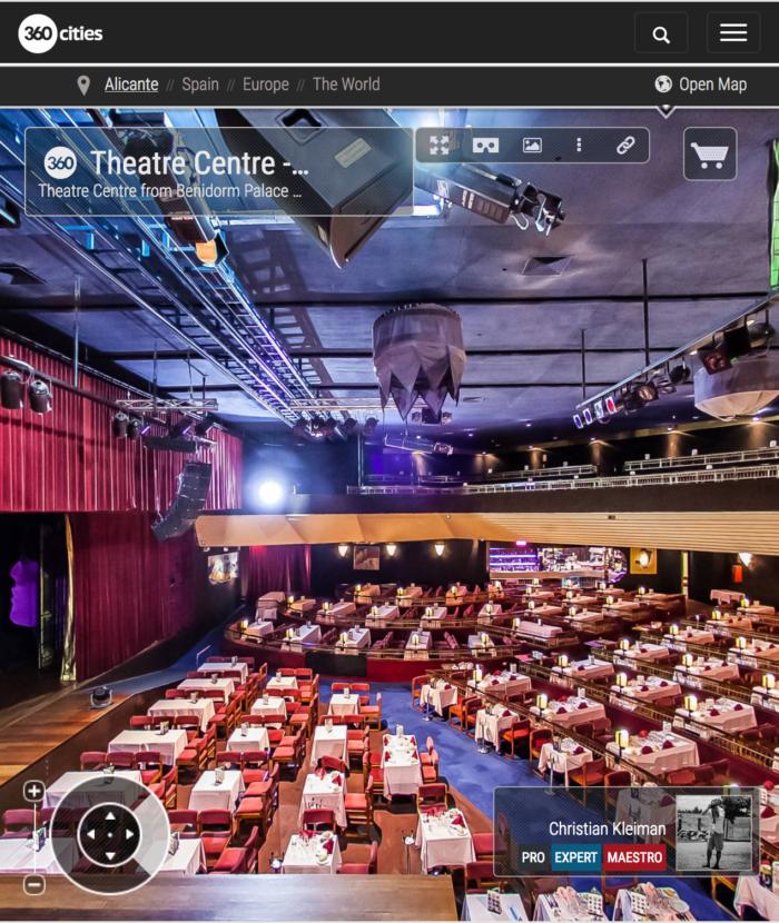Benidorm Palace Sala de Fiestas, Costa Blanca - Fotos Pano 360 VR