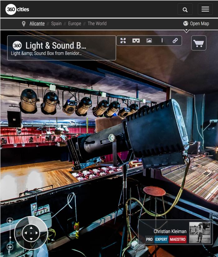 Benidorm Palace - Cabina de Control, Cocinas y Bar - Fotos Pano 360 VR