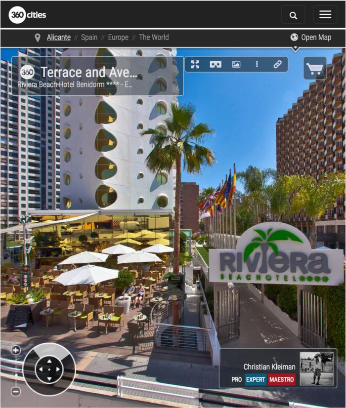 Riviera Beach Hotel Benidorm, Costa Blanca - Fotos Pano 360 VR