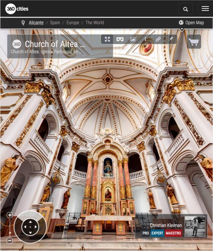 Iglesia Parroquial de Altea, Costa Blanca - Foto Pano 360 VR