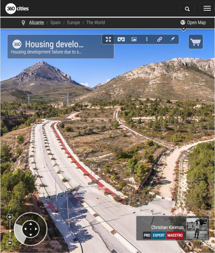 Crisis de la construcción - La Nucía, Costa Blanca - Foto Pano 360 VR