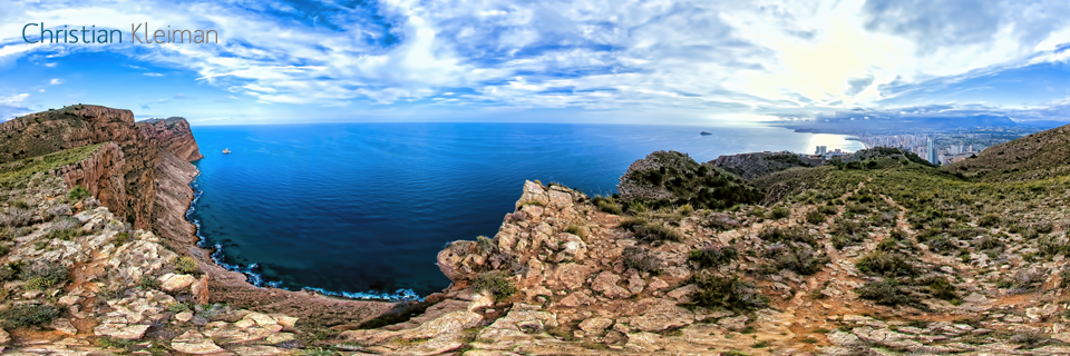 Photo Guide with Creative 360º Spherical Panoramic Photography of the City of Benidorm Costa Blanca by © Christian Kleiman