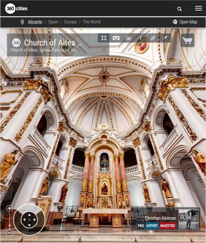 Altea Church - Iglesia Parroquial - 360 VR Pano Photo